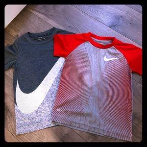 2 Nike DRI FIT T-shirt's